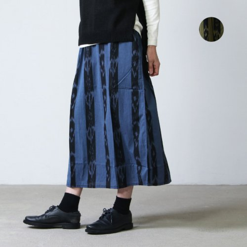 South2 West8 (サウスツーウエストエイト) String Skirt - Ikat Stripe / ストリングスカート