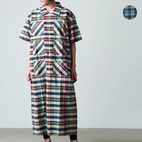 South2 West8 (サウスツーウエストエイト) Henley Neck Shirt Dress - Batik Over Print / ヘンリーネックシャツドレス
