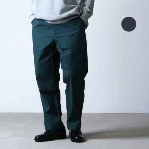 STUDIO NICHOLSON (スタジオニコルソン) POWDER COTTON VELCRO PATCH POCKET PANT ROSARIO / パウダーコットンベルクロパッチポケットパンツ