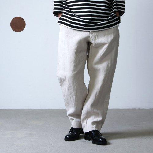 COMOLI (コモリ) ヘンプダック バックストラップパンツ