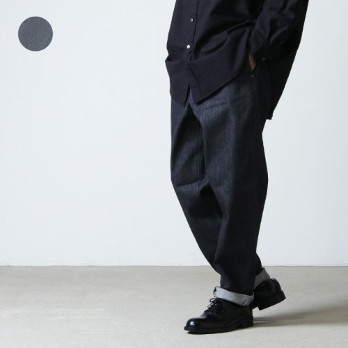 Graphpaper (グラフペーパー) Colorfast Denim Slim Waisted Chef Pants / カラーファストデニムスリムウェストシェフパンツ
