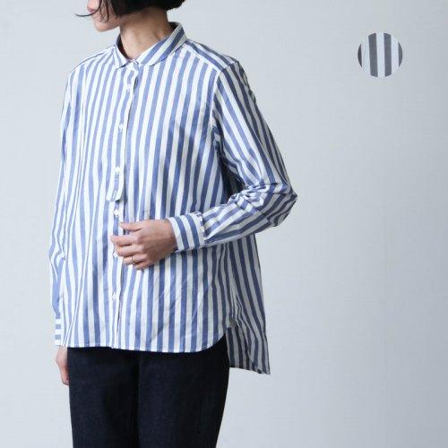 MidiUmi (ミディウミ) ロンドンストライプラウンドカラーシャツ