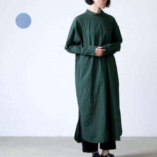 08sircus (ゼロエイトサーカス) Compact lawn garment dyed dress / コンパクトローンガーメントダイドレス