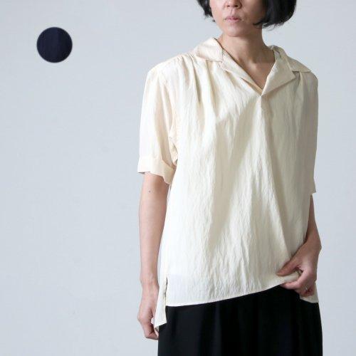 08sircus (ゼロエイトサーカス) Viscose washer gather shirt / ヴィスコースウォッシャーギャザーシャツ