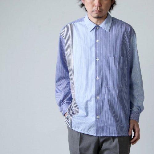 CURLY (カーリー) CLOUDY L/S SHIRTS -Panel Stripe- / クラウディーロングスリーブシャツ