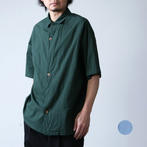 08sircus (ゼロエイトサーカス) Compact lawn garment dyed over shirt / コンパクトローンガーメントダイオーバーシャツ