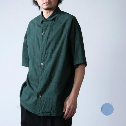 08sircus (ゼロエイトサーカス) Compact lawn garment dyed over shirt / コンパクトローンガーメントダイオーバーシャツ