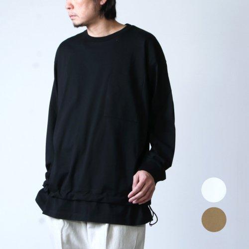 WELLDER (ウェルダー) Drawstring Long Sleeve T-Shirt / ドローストリングロングスリーブTシャツ