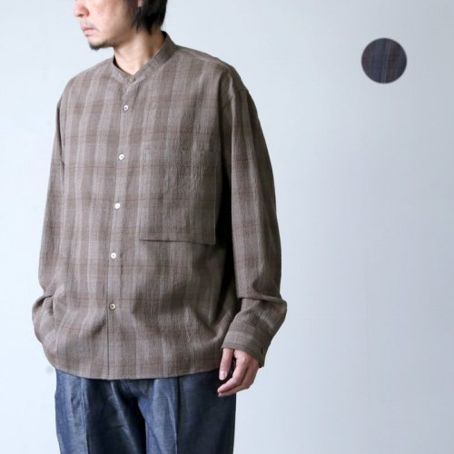 WELLDER (ウェルダー) Band Collar Shirt Jacket / バンドカラーシャツジャケット