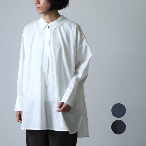 mizuiro ind (ミズイロインド) フロントフライワイドチュニックシャツ