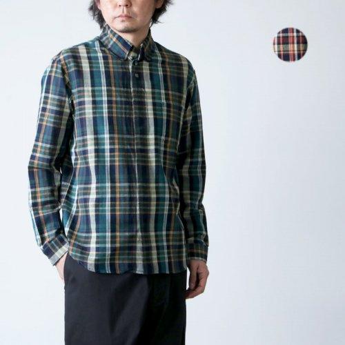 nisica (ニシカ) チェックボタンダウンシャツ