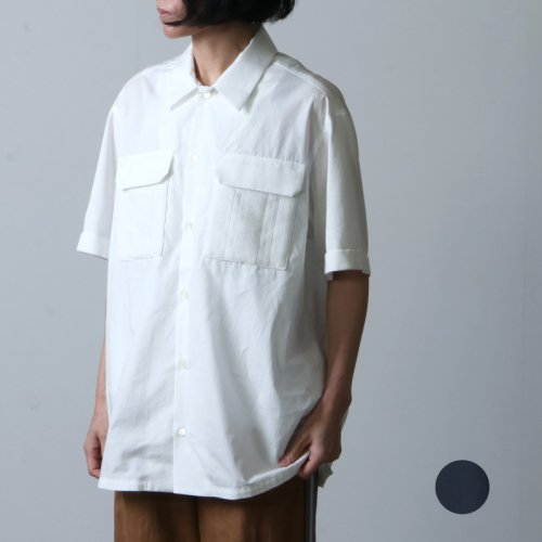 COOHEM (コーヘン) KNIT PATCHWORK S/T / ニットパッチワークシャツ