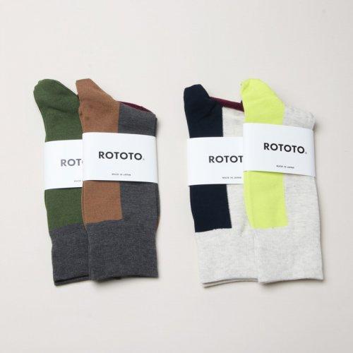 RoToTo (ロトト) VERTICAL CREW SOCKS / バーチカルクルーソックス