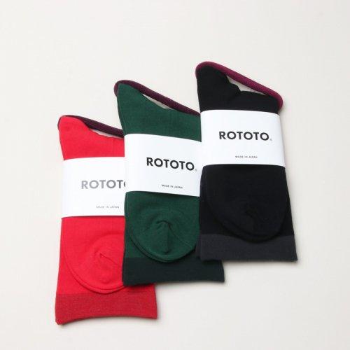 RoToTo (ロトト) STRETCHLY CREW SOCKS / ストレッチリークルーソックス