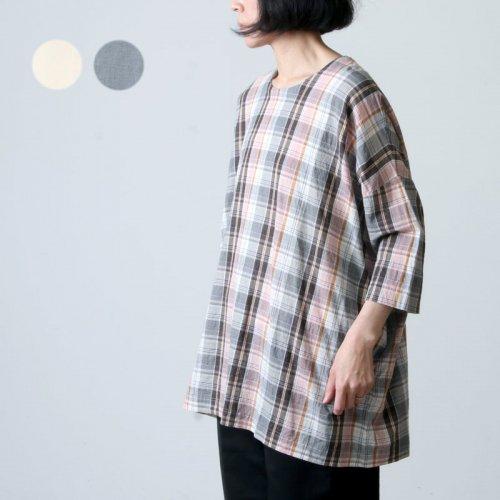 jujudhau (ズーズーダウ) SMALL NECK SHIRTS / スモールネックシャツ