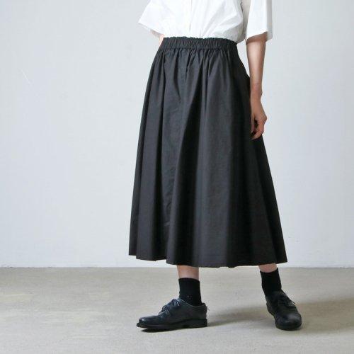 FACTORY (ファクトリー) ペルー綿 高密度ブロードサーキュラースカート