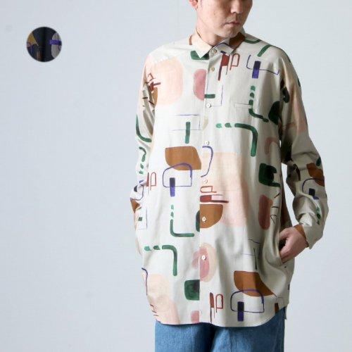 Dulcamara (ドゥルカマラ) ライブラリープリントヨークスリーブシャツ