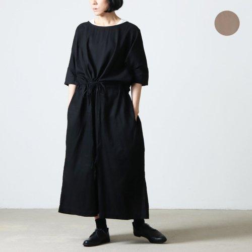 jujudhau (ズーズーダウ) KINCHAKU DRESS LINEN COTTON / キンチャクドレスリネンコットン