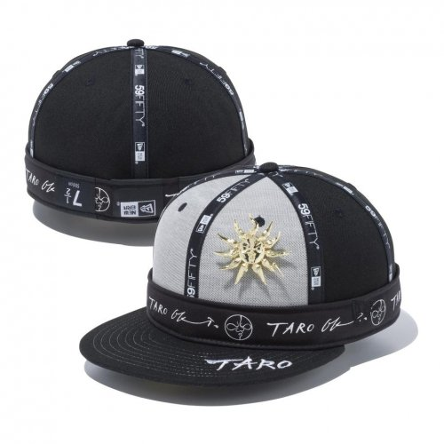 NEW ERA (ニューエラ) 5950 TARO TAIYOU BLK GLD BADGE / 59FIFTY Taro Okamoto 岡本太郎 若い太陽の塔 ゴールドバッジ ブラック