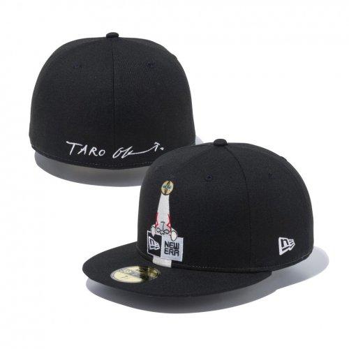 NEW ERA (ニューエラ) 5950 TARO TAIYOU BOX LOGO BLK MULTI / 59FIFTY Taro Okamoto 岡本太郎 太陽の塔 ボックスロゴ ブラック