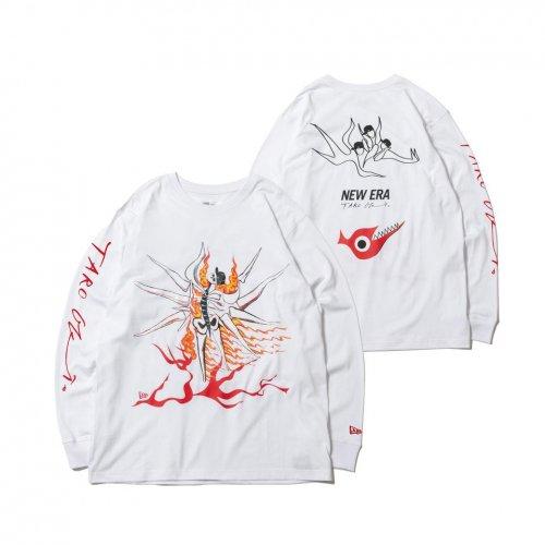 NEW ERA (ニューエラ) LS CTEE TARO ASUNOSHINWA WHI / 長袖 コットン Tシャツ Taro Okamoto 岡本太郎 明日の神話 ホワイト リラックスフィット