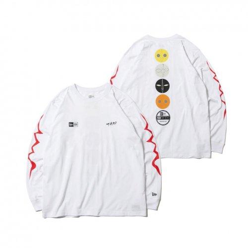 NEW ERA (ニューエラ) LS CTEE TARO TAIYOU WHI / 長袖 コットン Tシャツ Taro Okamoto 岡本太郎 太陽の塔 マルチ ホワイト リラックスフィット