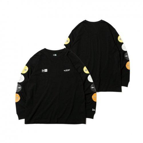 NEW ERA (ニューエラ) LS CTEE TARO TAIYOU BLK / 長袖 コットン Tシャツ Taro Okamoto 岡本太郎 太陽の塔 マルチ ブラック リラックスフィット