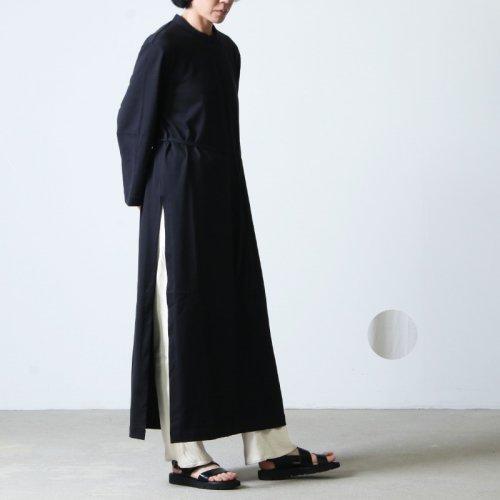 THE HINOKI (ザ ヒノキ) オーガニックコットン スタンドアップカラー スリットドレス