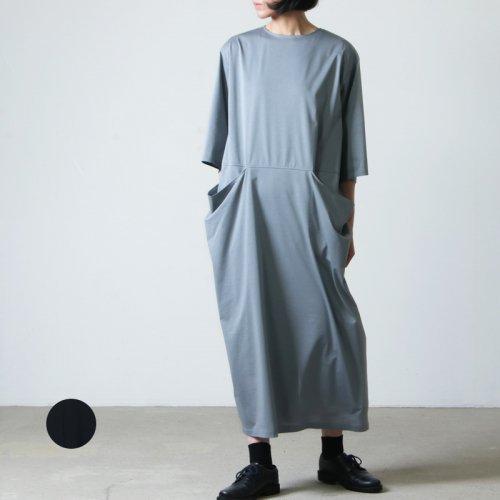 08sircus (ゼロエイトサーカス) High gauge jersey drape pocket dress / ハイゲージジャージードレープポケットドレス