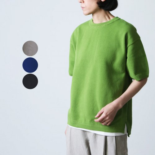 crepuscule (クレプスキュール) Moss stitch S/S for woman / モススティッチ ショートスリーブ レディースサイズ