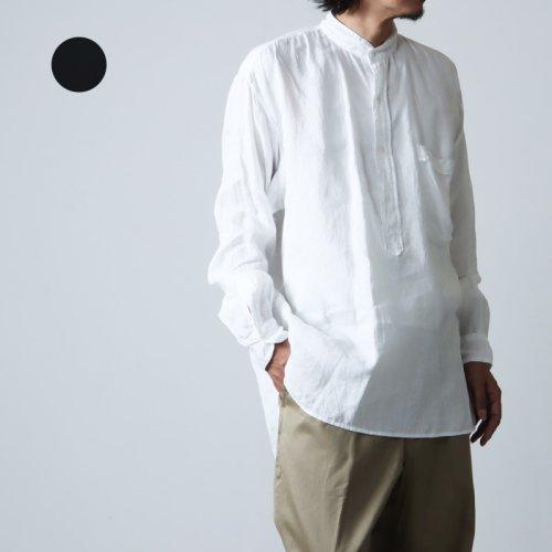 COMOLI (コモリ) リネンWクロス プルオーバーシャツ