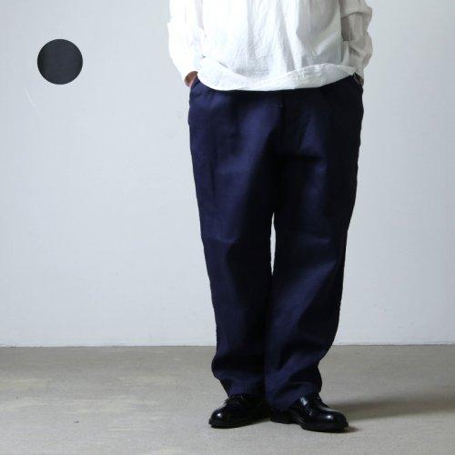 COMOLI (コモリ) リネンWクロス ドローストリングパンツ