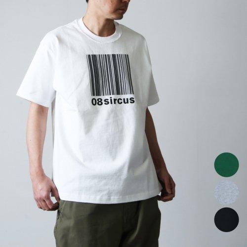 08sircus (ゼロエイトサーカス) Barcode logo rubber print tee / バーコードロゴラバープリントT