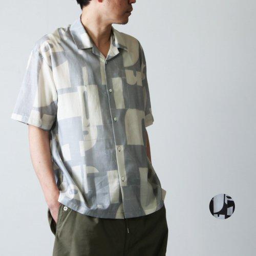 08sircus (ゼロエイトサーカス) Cu/C alphabet tile print shirt / アルファベットタイルプリントシャツ