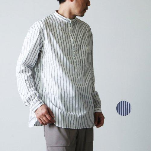 LOLO (ロロ) スタンドカラープルオーバー ストライプシャツ