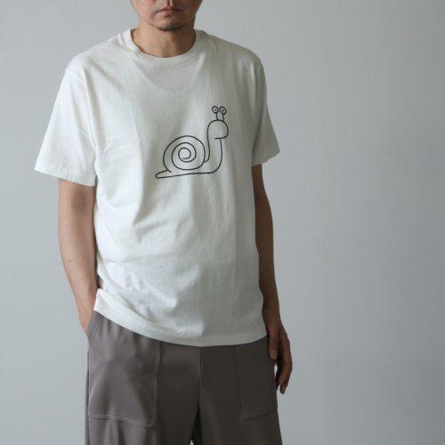 YAECA (ヤエカ) Ken Kagami PRINT TEE snail / ケンカガミ プリントTシャツ スネイル