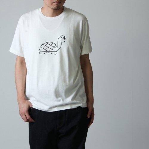 YAECA (ヤエカ) Ken Kagami PRINT TEE tortoise / ケンカガミ プリントTシャツ タートルズ