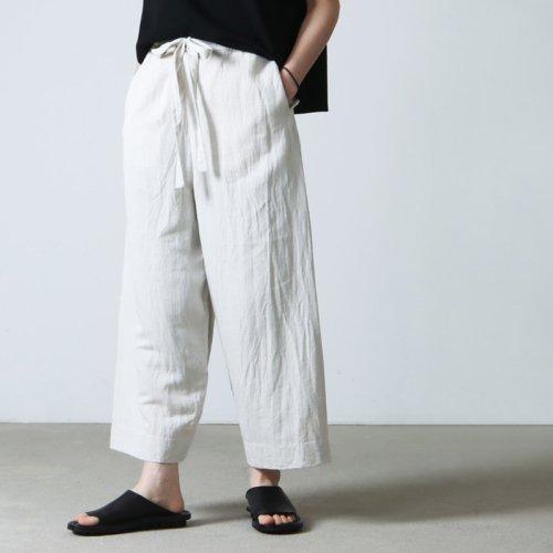 YAECA (ヤエカ) WRITE RIBBON PANTS / ライトリボンパンツ