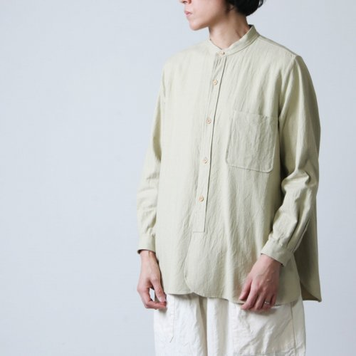 YAECA (ヤエカ) WRITE STANDING COLLAR SHIRT cotton / ライトスタンディングカラーシャツコットン