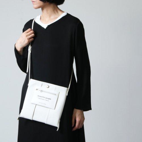 beautiful people (ビューティフルピープル) lining logo pocket mini leather bag / ライニングロゴポケットミニレザーバッグ