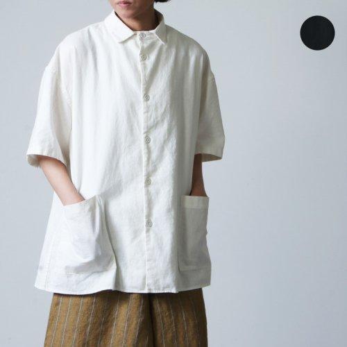 LOLO (ロロ) ビッグサイズ半袖 綿麻シャツ size:S