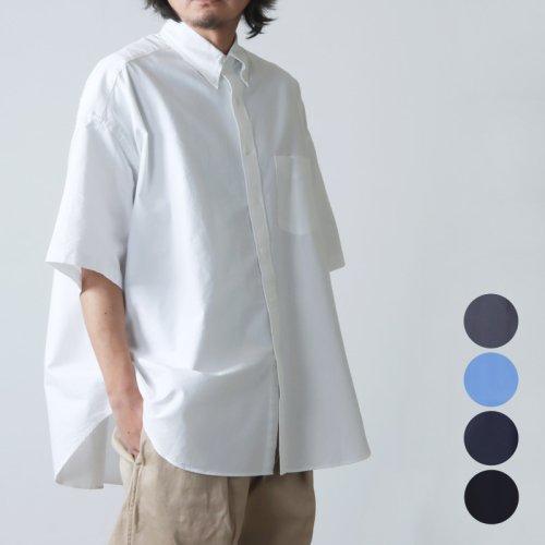 Graphpaper (グラフペーパー) Oxford Oversized S/S B.D Shirt / オックスフォード オーバーサイズドショートスリーブボタンダウンシャツ