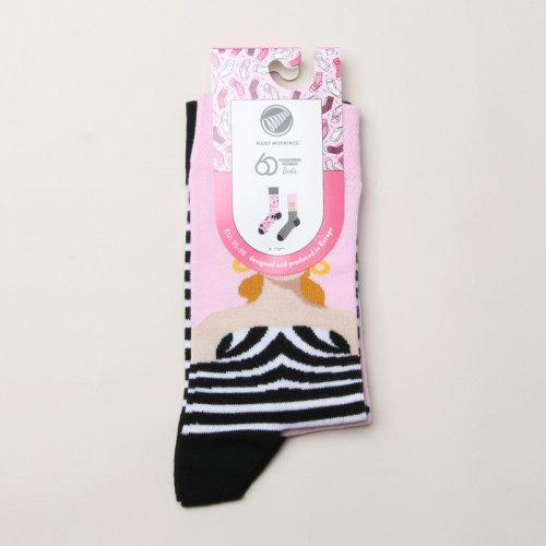 MANY MORNINGS (メニーモーニングス) Regular Socks Barbie / レギュラーソックス バービー