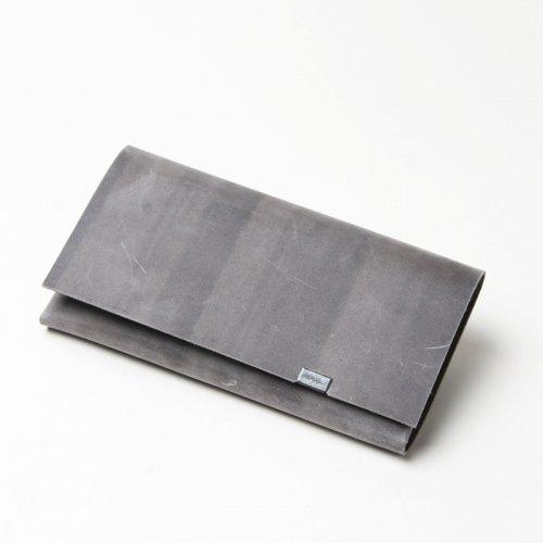 所作 (ショサ) Long Wallet #Oil Nubuck Gray / オイルヌバック ロングウォレット グレイ