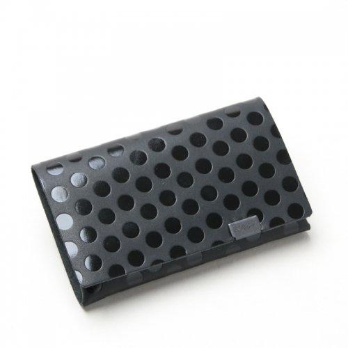 所作 (ショサ) Coin Case #Black×Black Dot / ブラックドット コインケース
