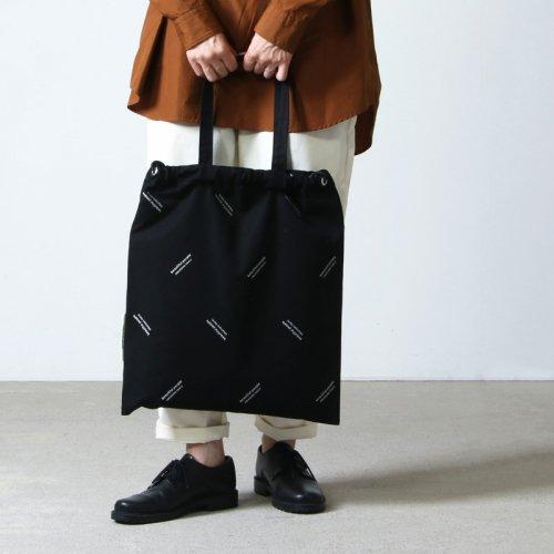 beautiful people (ビューティフルピープル) logo JQ drawstring 2way bag / ロゴジャガードドローイングツーウェイバッグ