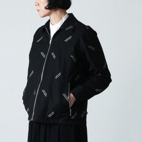 beautiful people (ビューティフルピープル) logo jacquard cloth  zip up shirt / ロゴジャガードジップアップシャツ