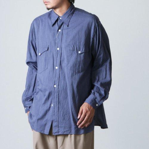 COMOLI (コモリ) ヨリ杢 ワークシャツ