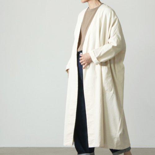 mizuiro ind (ミズイロインド) one wash denim wide coat / ワンウォッシュデニムワイドコート