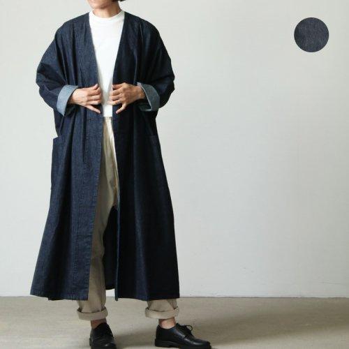 mizuiro ind (ミズイロインド) bio wash denim wide coat / バイオウォッシュデニムワイドコート